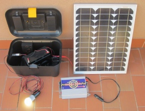Kit fotovoltaico in valigietta