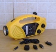 Solar and hand crank radio with torch